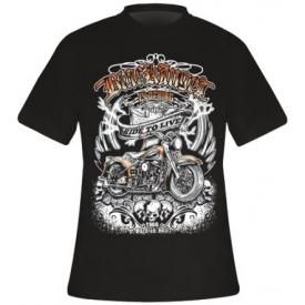 T-Shirt Mec BLACK ANGEL - Ride To Live