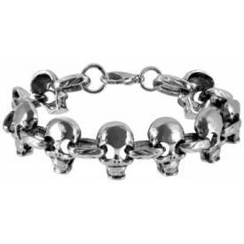 Bracelet MÉTAL - Skulls Chain In Eyes