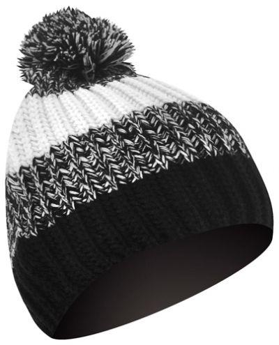 bonnet 7x pompon noir gris blanc bonnets rock a gogo. Black Bedroom Furniture Sets. Home Design Ideas