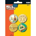Pack de 4 Badges SIMPSONS - Homer