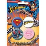 Pack de 4 Badges SUPERMAN