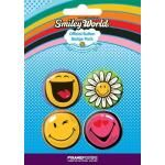 Pack de 4 Badges SMILEY