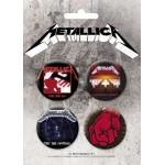 Pack de 4 Badges METALLICA 3