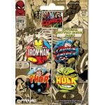 Pack de 4 Badges COMICS MARVEL 2