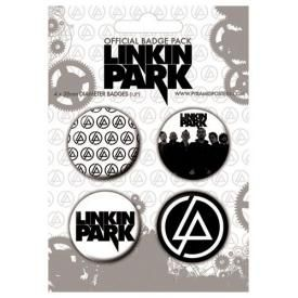 Pack de 4 Badges LINKIN PARK - Symbols