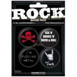 Pack de 4 Badges ROCK