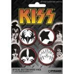 Pack de 4 Badges KISS - Icons