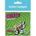 Pack de 6 Badges GREEN DAY - Uno Dos Tré
