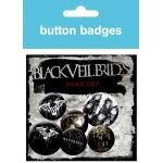 Pack de 6 Badges BLACK VEIL BRIDES - Band