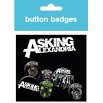 Pack de 6 Badges ASKING ALEXANDRIA - Drawing