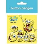 Pack de 6 Badges BOB L'ÉPONGE - Faces 4