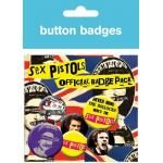 Pack de 6 Badges SEX PISTOLS - Anarchy