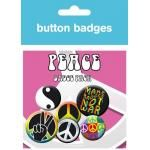Pack de 6 Badges PEACE - Symbols