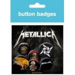 Pack de 6 Badges METALLICA - Logo