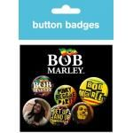 Pack de 6 Badges BOB MARLEY - One