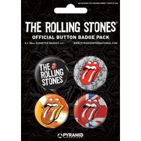 Pack de 4 Badges ROLLING STONES - Tongue 2