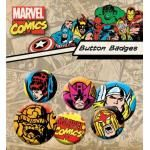 Pack de 6 Badges MARVEL COMICS - Superheroes