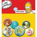 Pack de 6 Badges SIMPSON - Homer