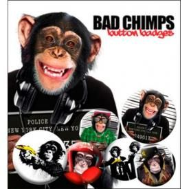 Pack de 6 Badges FUN - Bad Chimps