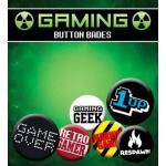 Pack de 6 Badges GAMER - Retro Gaming