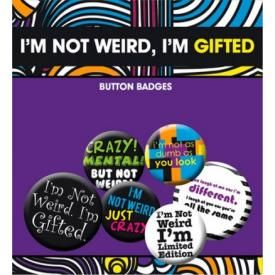 Pack de 6 Badges TEXTE - Not Weird