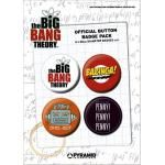 Pack de 4 Badges THE BIG BANG THEORY - Buttons
