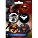 Pack de 4 Badges SUPERMAN - Man Of Steel