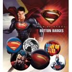 Pack de 6 Badges SUPERMAN - Man Of Steel