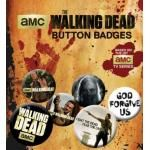 Pack de 6 Badges THE WALKING DEAD - Forgive Us