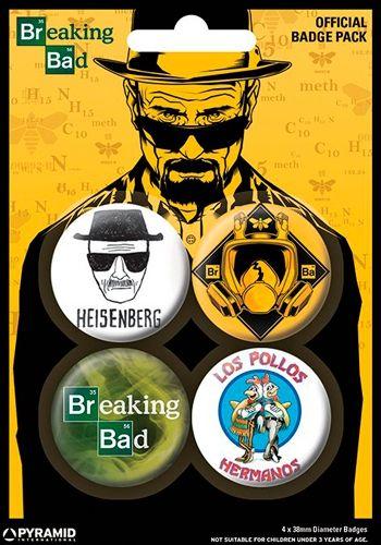 Image de Pack de 4 Badges BREAKING BAD - Buttons