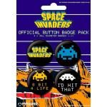 Pack de 4 Badges SPACE INVADERS - Buttons