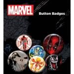 Pack de 6 Badges MARVEL COMICS - Extreme