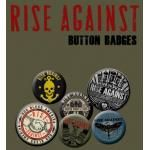 Pack de 6 Badges RISE AGAINST - Buttons