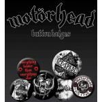 Pack de 6 Badges MOTORHEAD - Aces Buttons
