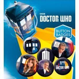Pack de 6 Badges DOCTOR WHO - 12th Doctor