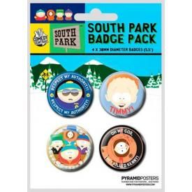 Pack de 4 Badges SOUTH PARK - Buttons