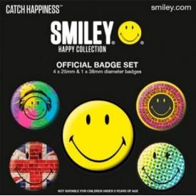 Pack de 5 Badges SMILEY - Happy Collection