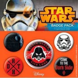 Pack de 5 Badges STAR WARS - Dark Side