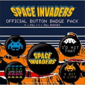 Pack de 5 Badges SPACE INVADERS - Game On