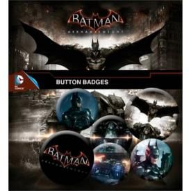 Pack de 6 Badges BATMAN - Arkham Knight