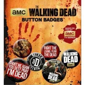 Pack de 6 Badges THE WALKING DEAD - Sentences