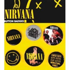 Pack de 6 Badges NIRVANA - Smiley