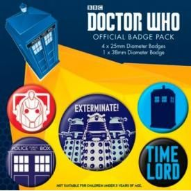 Pack de 5 Badges DOCTOR WHO - Exterminate