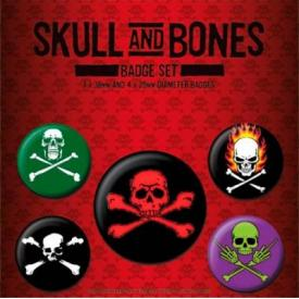 Pack de 5 Badges SKULL & BONES - Crossbones
