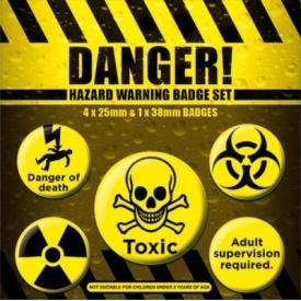 Pack de 5 Badges DANGER - Warning