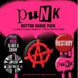Pack de 5 Badges PUNK - Anarchy