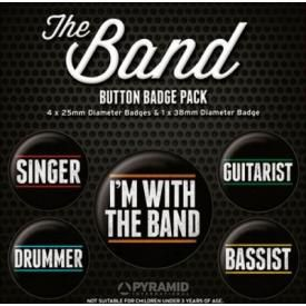 Pack de 5 Badges ROCK - The Band