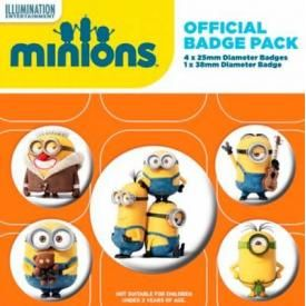 Pack de 5 Badges MINIONS - Characters
