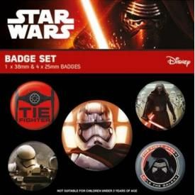 Pack de 5 Badges STAR WARS - First Order