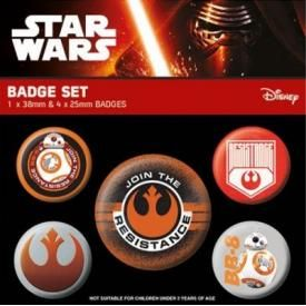 Pack de 5 Badges STAR WARS - Resistance